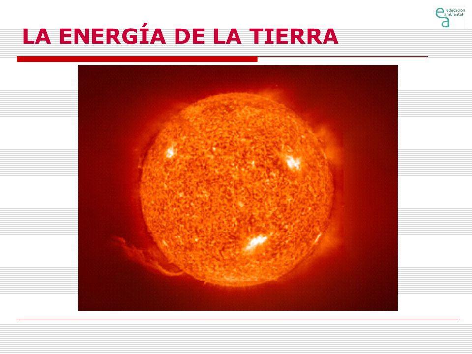 LA ENERGÍA DE LA TIERRA Características básicas de las diferentes fuentes (24) Energía Solar (2) Potencial energético Es variable, en función de la hora del día, época del año y situación atmosférica: día-noche, estación del año (altura del sol sobre el horizonte), nubes, nieblas, smog, calimas, etc.