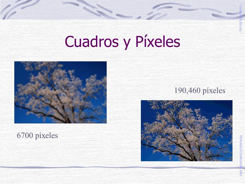 Cuadros y Píxeles 6700 píxeles 190,460 píxeles Abstracts of Powerpoint Talks - newmanlib.ibri.org -newmanlib.ibri.org