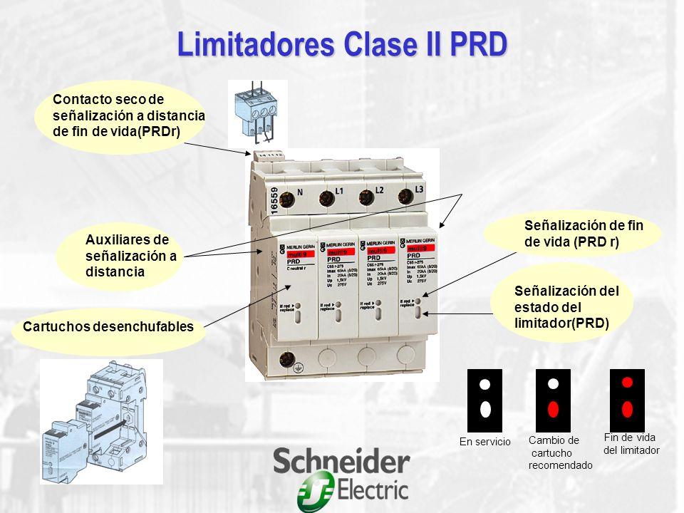 Características eléctricas U p : Valor de pico de la tensión que aparece en bornes del limitador durante la circulación de In U c : Valor admisible de