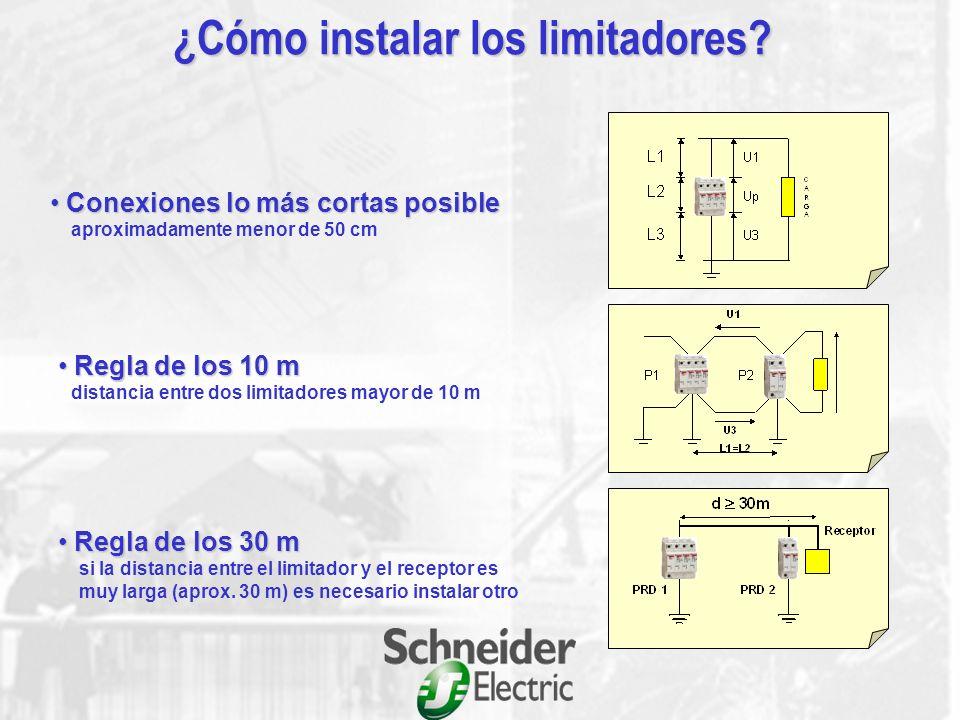 (kA) Protección de cabecera Imáx 4065 40154015 4 Baja 1 1< Ng < 4 1 88888 4 4 1 Densidad de rayos (Ng) Debería instalarse protección fina si: La dista