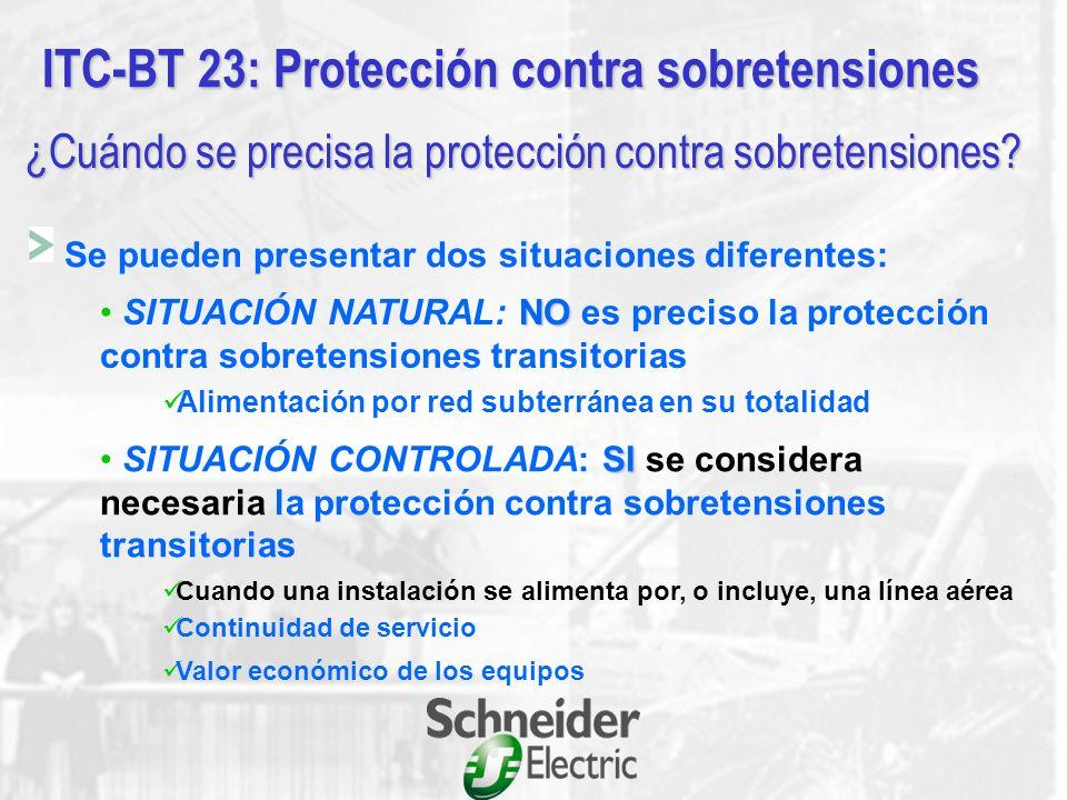 ITC-BT 23: Protección contra sobretensiones Objeto y campo de aplicación Trata únicamente de las sobretensiones debidas a la influencia de la descarga