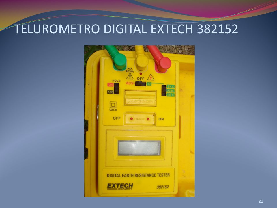 TELUROMETRO DIGITAL EXTECH 382152 21