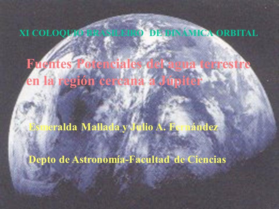 Fuentes Potenciales del agua terrestre en la región cercana a Júpiter Esmeralda Mallada y Julio A.