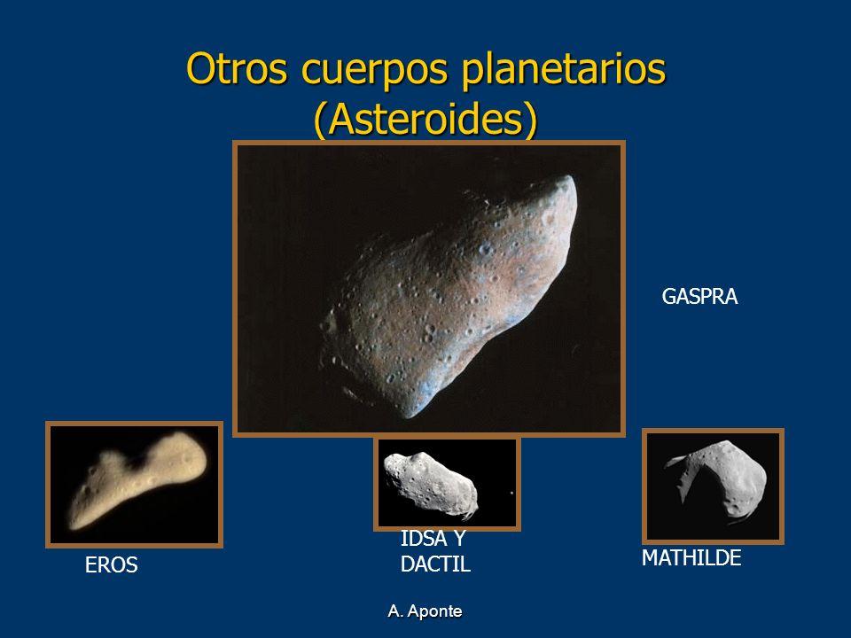 A. Aponte Otros cuerpos planetarios (Asteroides) EROS MATHILDE IDSA Y DACTIL GASPRA