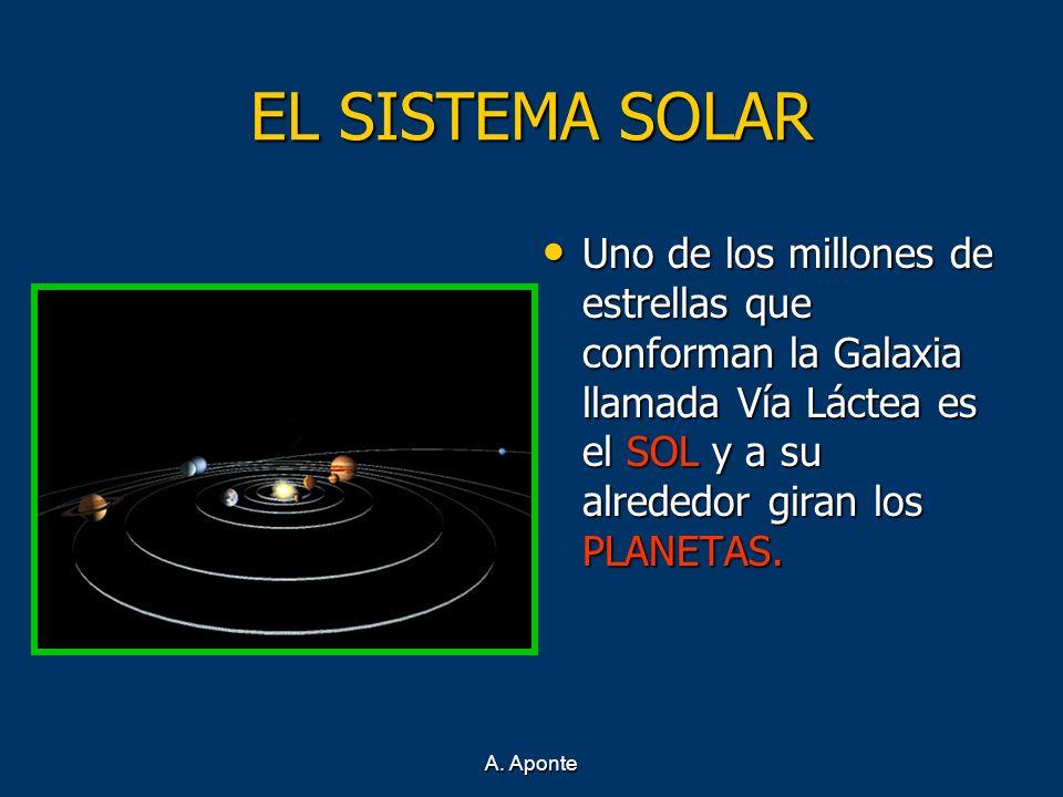 EL SISTEMA SOLAR Uno de los millones de estrellas que conforman la Galaxia llamada Vía Láctea es el SOL y a su alrededor giran los PLANETAS. Uno de lo