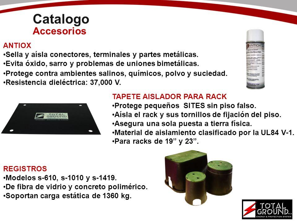 Catalogo Accesorios ANTIOX Sella y aísla conectores, terminales y partes metálicas. Evita óxido, sarro y problemas de uniones bimetálicas. TAPETE AISL