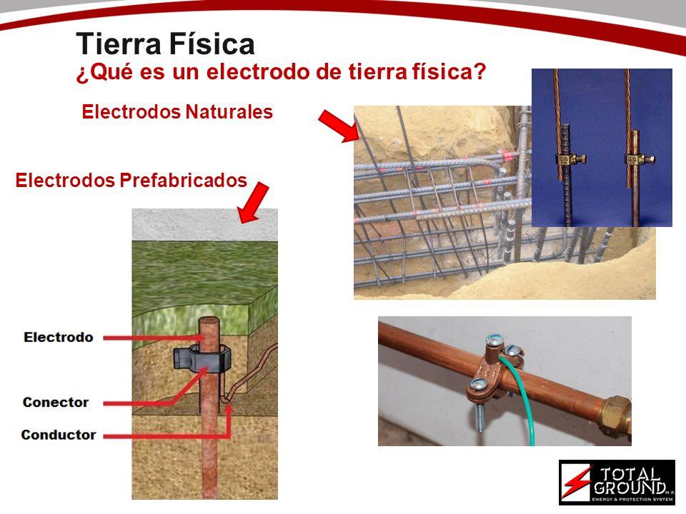 Electrodos Naturales Electrodos Prefabricados ¿Qué es un electrodo de tierra física? Tierra Física