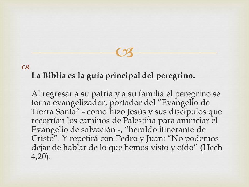 La Biblia es la guía principal del peregrino.