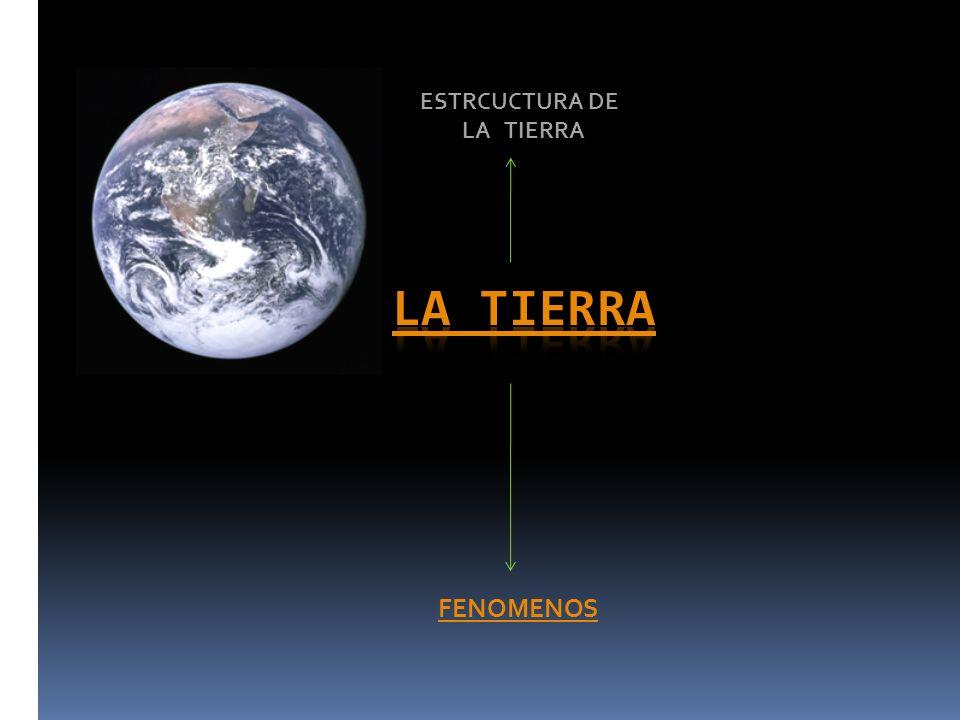 FENOMENOS ESTRCUCTURA DE LA TIERRA