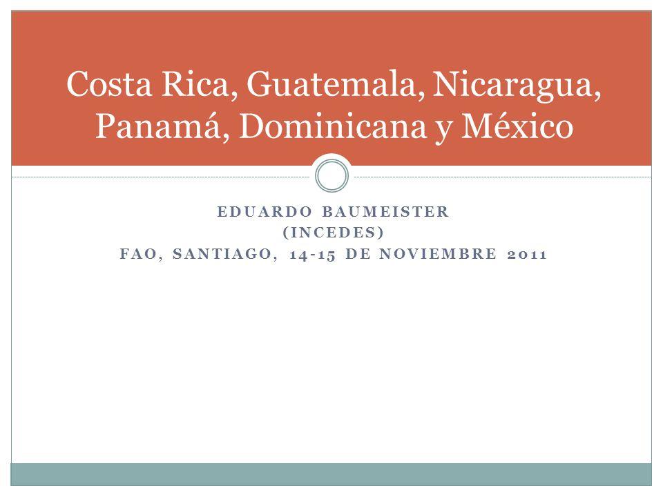 EDUARDO BAUMEISTER (INCEDES) FAO, SANTIAGO, 14-15 DE NOVIEMBRE 2011 Costa Rica, Guatemala, Nicaragua, Panamá, Dominicana y México