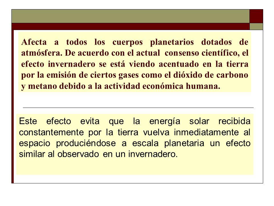Dra.Flor Teresa García Huamán El efecto invernadero es un factor esencial del clima de la tierra.