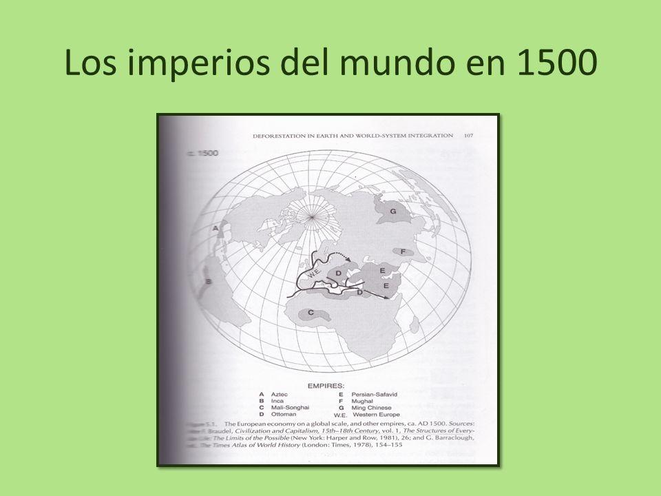 Los imperios del mundo en 1500