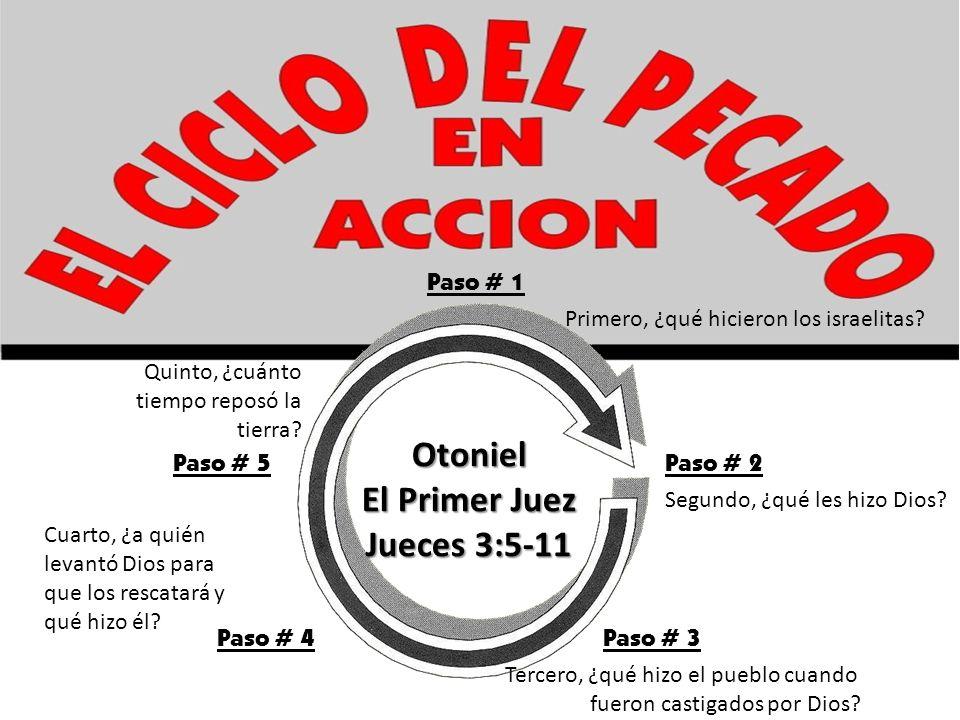 Paso # 1 Primero, ¿qué hicieron los israelitas? Paso # 2 Segundo, ¿qué les hizo Dios? Paso # 3 Tercero, ¿qué hizo el pueblo cuando fueron castigados p