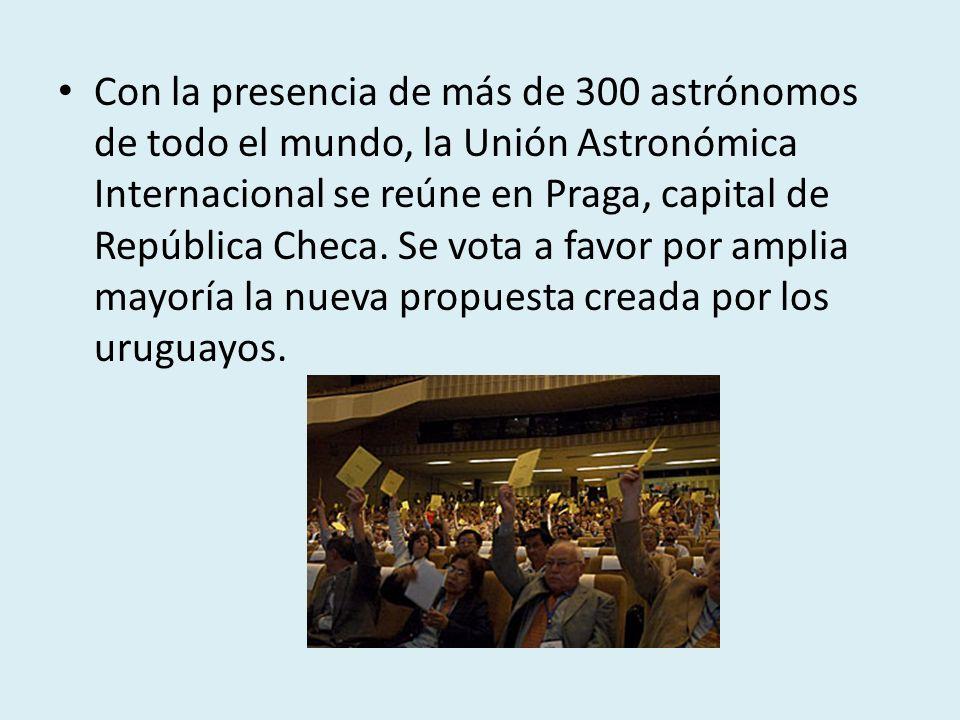 Con la presencia de más de 300 astrónomos de todo el mundo, la Unión Astronómica Internacional se reúne en Praga, capital de República Checa. Se vota
