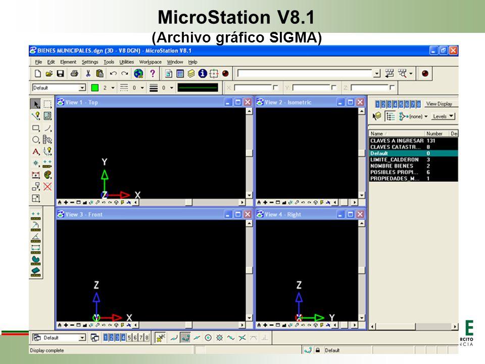 MicroStation V8.1 (Archivo gráfico SIGMA)