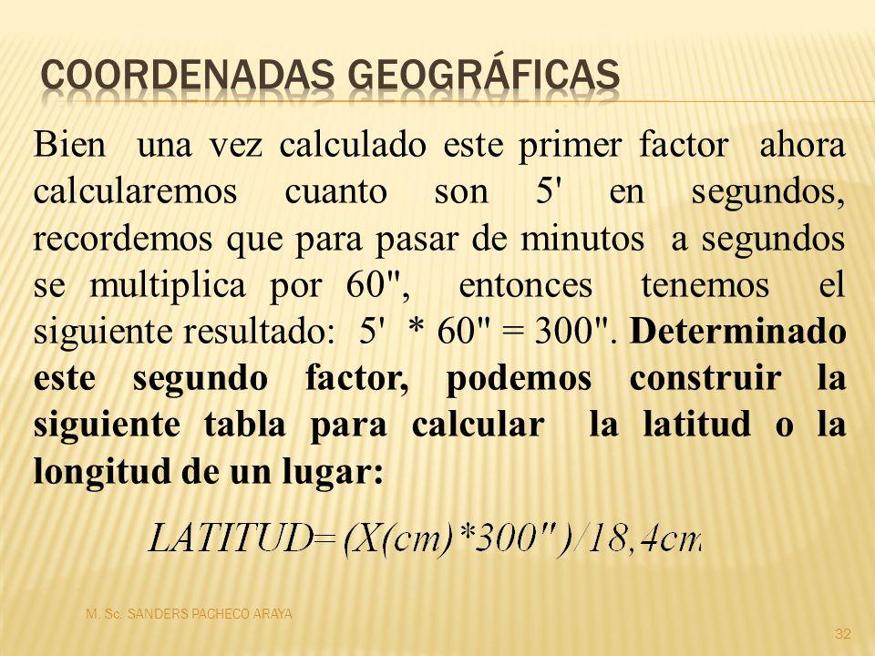 Bien una vez calculado este primer factor ahora calcularemos cuanto son 5' en segundos, recordemos que para pasar de minutos a segundos se multiplica