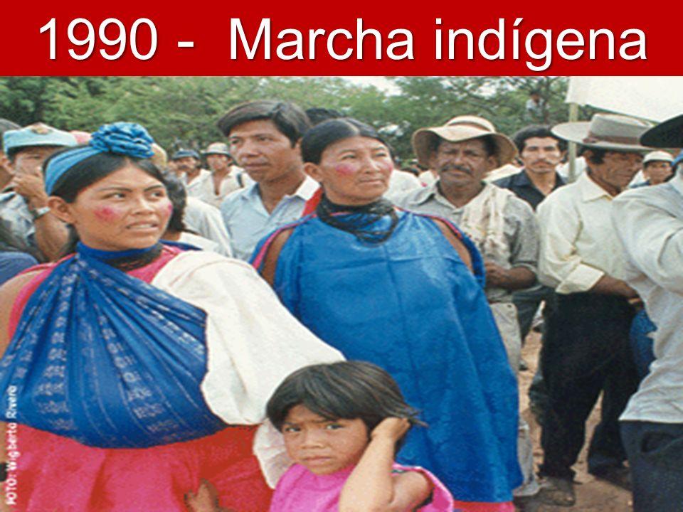 1990 - Marcha indígena