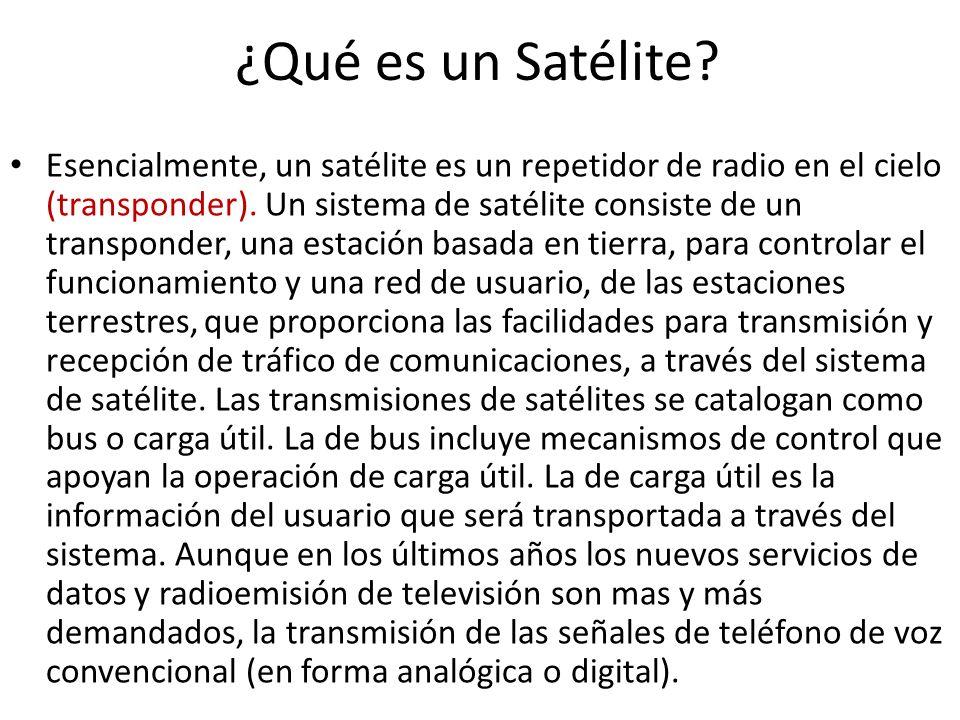 ¿Qué es un Satélite? Esencialmente, un satélite es un repetidor de radio en el cielo (transponder). Un sistema de satélite consiste de un transponder,