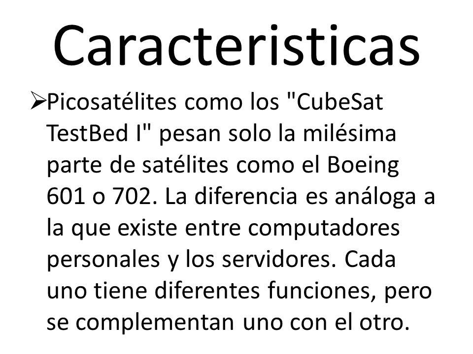 Caracteristicas Picosatélites como los