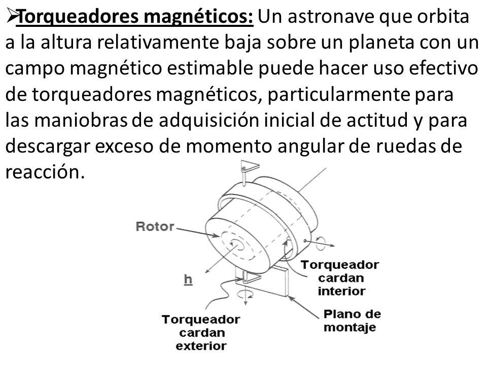 Torqueadores magnéticos: Un astronave que orbita a la altura relativamente baja sobre un planeta con un campo magnético estimable puede hacer uso efec