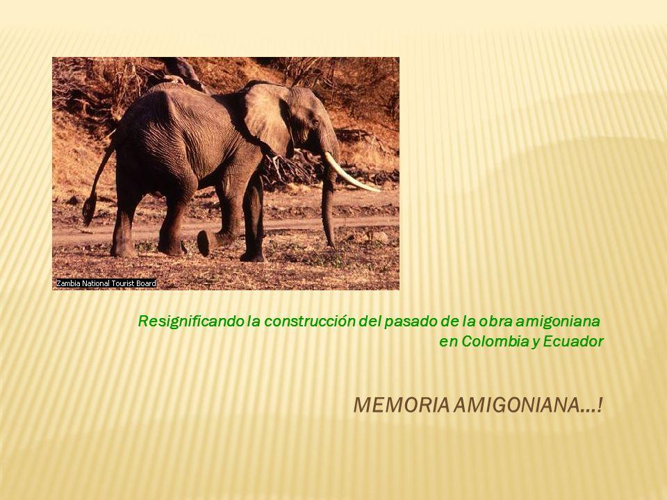 Resignificando la construcción del pasado de la obra amigoniana en Colombia y Ecuador MEMORIA AMIGONIANA…!