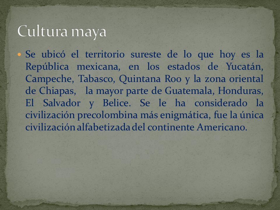 Se ubicó el territorio sureste de lo que hoy es la República mexicana, en los estados de Yucatán, Campeche, Tabasco, Quintana Roo y la zona oriental d