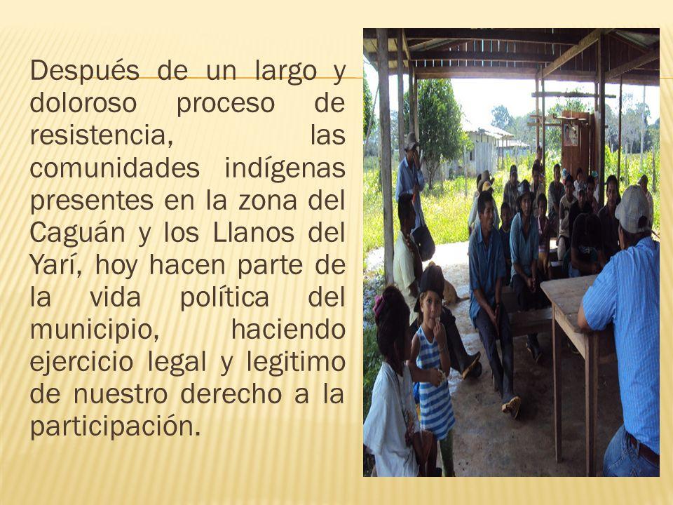 Después de un largo y doloroso proceso de resistencia, las comunidades indígenas presentes en la zona del Caguán y los Llanos del Yarí, hoy hacen part