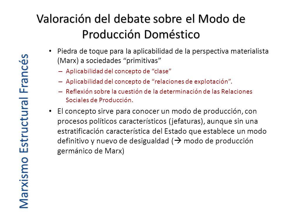 Valoración del debate sobre el Modo de Producción Doméstico Piedra de toque para la aplicabilidad de la perspectiva materialista (Marx) a sociedades p