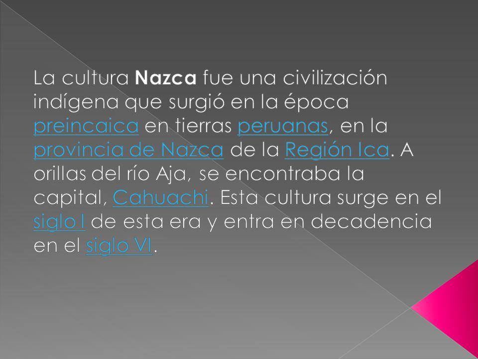 Cahuachi, en el Perú, era un centro ceremonial de la cultura Nazca que vivió su época de esplendor entre el año 1 y el 500, y estaba situado en el valle del río Nazca, a 28 km de la ciudad del mismo nombre y cerca de las líneas de Nazca.
