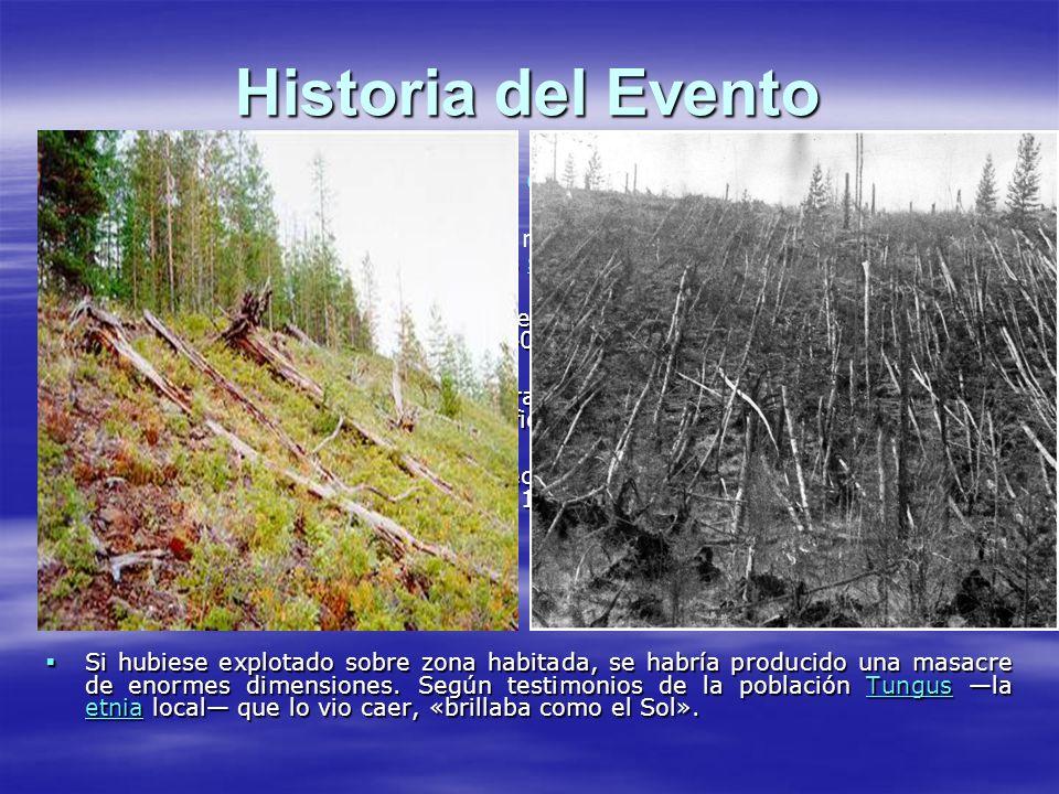 Historia del Evento El bólido de unos 80 metros de diámetro detonó en el aire. El bólido de unos 80 metros de diámetro detonó en el aire. fue detectad