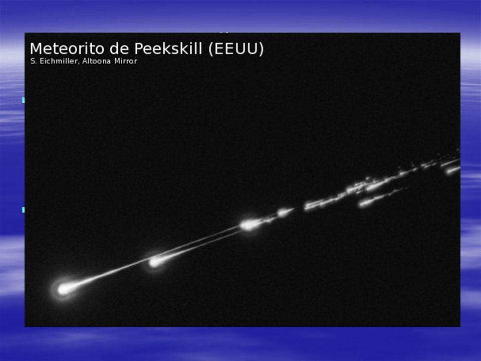 EL AÑO 2008 En la madrugada del 6 al 7 de octubre de 2008, un pequeño asteroide de 1 metro de diámetro se desintegró en su paso por la atmósfera terre
