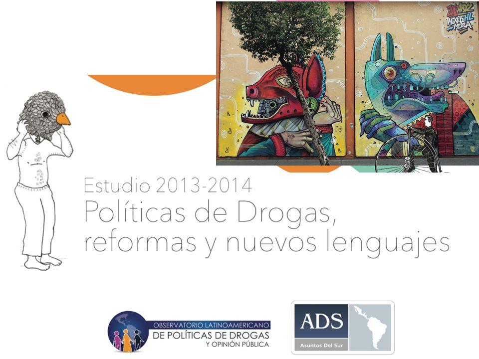 Estudio 2013-2014 en www.asuntosdelsur.org/drogas @AsuntosdelSur @DrogasyOpinion Evalúan negativamente las políticas de drogas