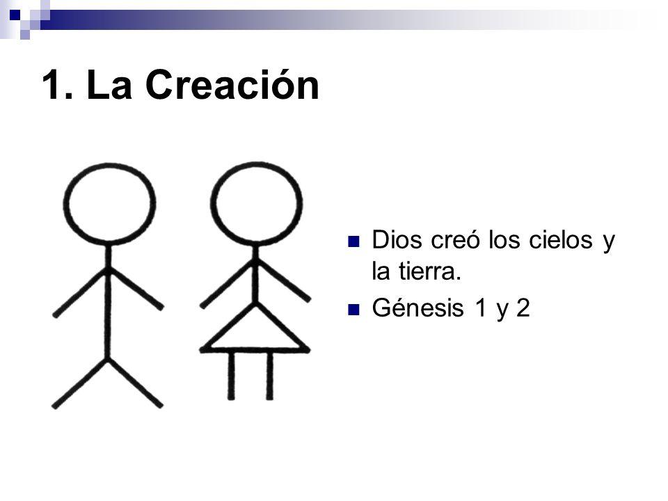 1. La Creación Dios creó los cielos y la tierra. Génesis 1 y 2