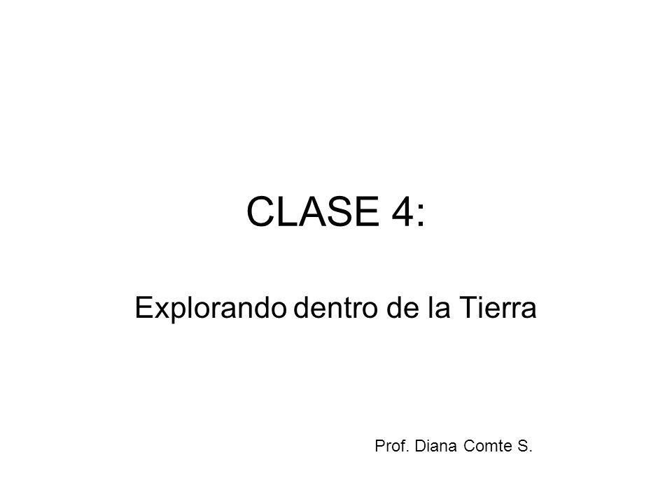 CLASE 4: Explorando dentro de la Tierra Prof. Diana Comte S.