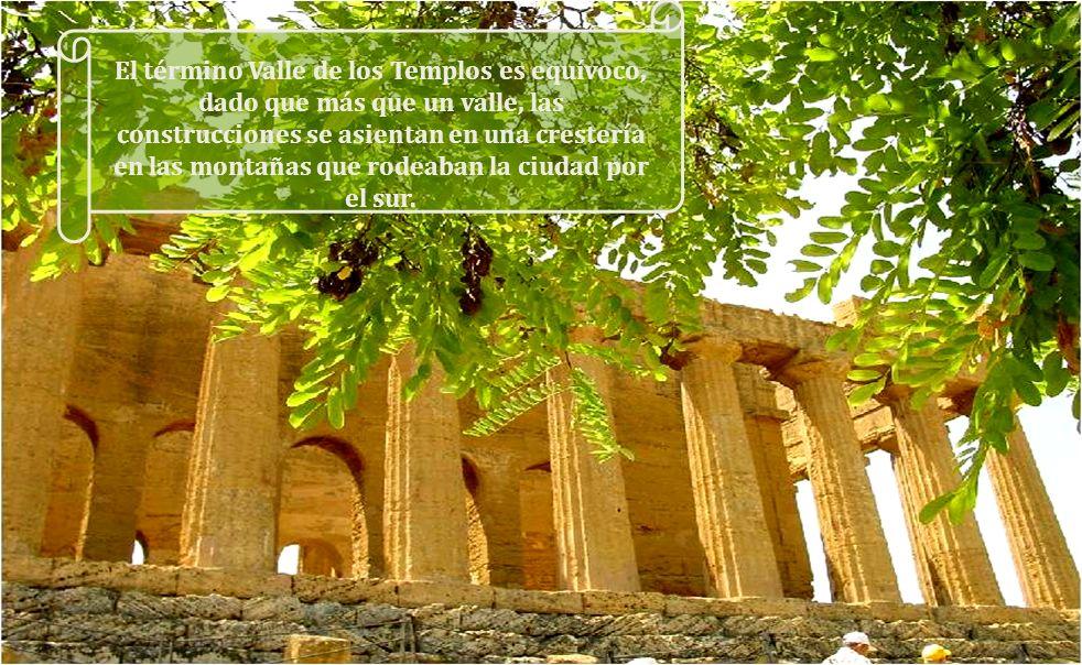 AGRIGENTO posee el conjunto de templos griegos mejor conservado del mundo. El valle de los templos de Agrigento, patrimonio de la humanidad fue descri