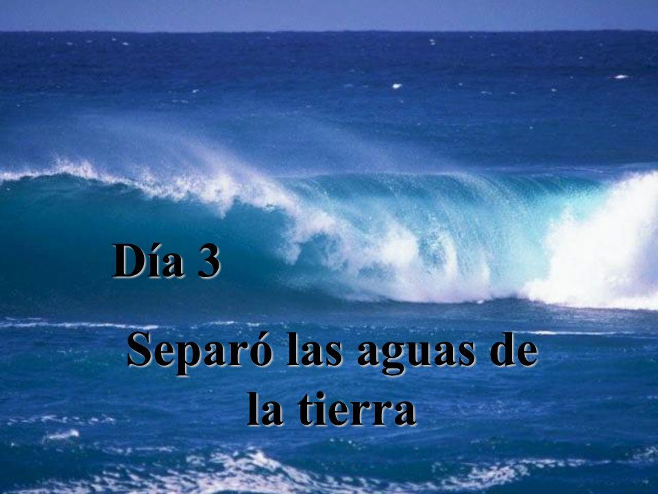 Día 3 Separó las aguas de la tierra