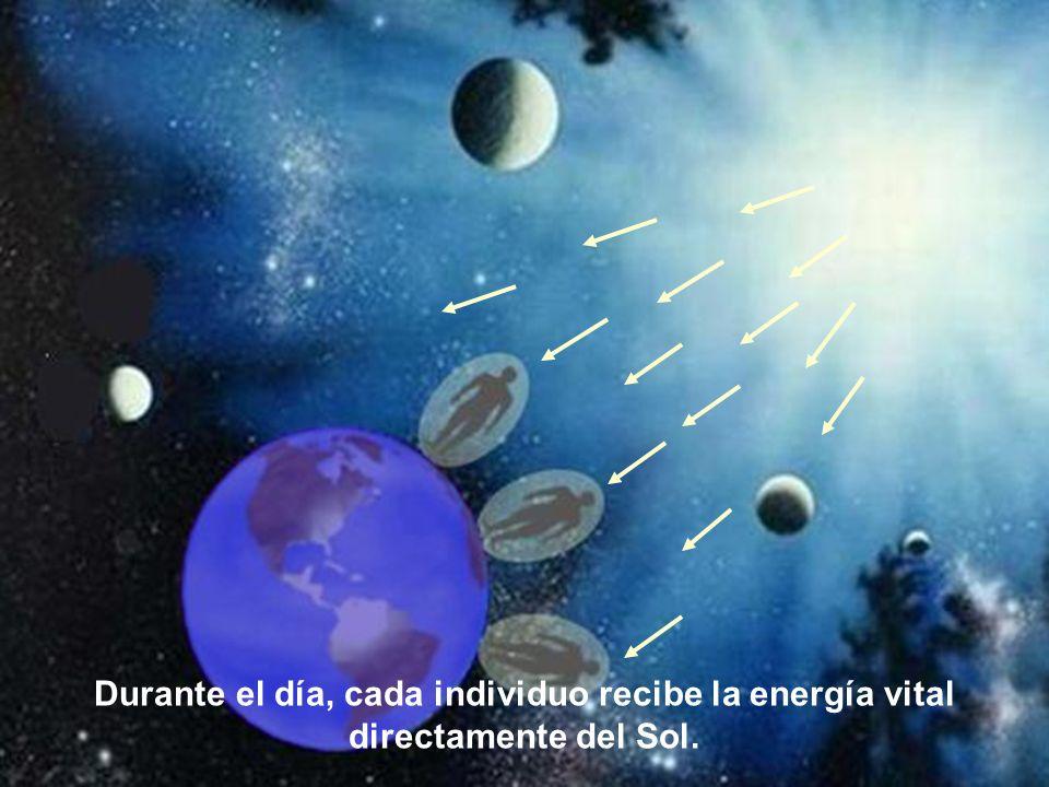 Los seres humanos reciben la energía vital por el chacra de la coronilla, conformando en consecuencia lo que se conoce como el Cordón de Plata, el cua