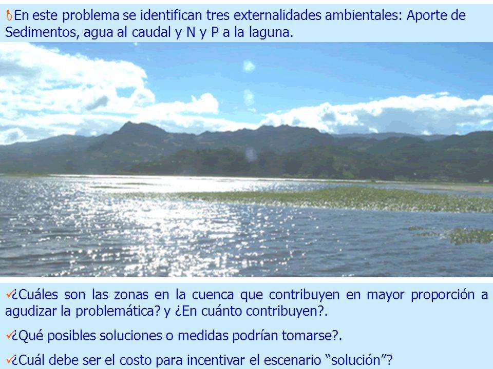 ¿Cuáles son las zonas en la cuenca que contribuyen en mayor proporción a agudizar la problemática.