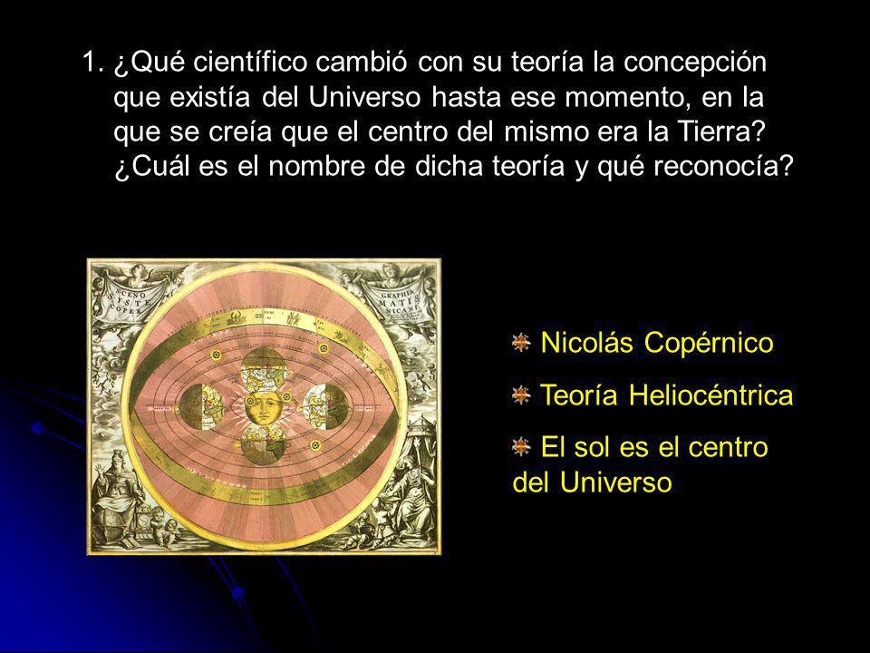 2.¿Con qué observaciones Galileo Galilei apoyó la teoría heliocéntrica de Copérnico.