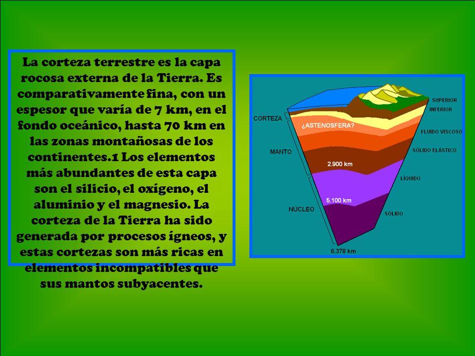 Facundo, Felipe y Nicolas 5º La corteza terrestre es la capa rocosa externa de la Tierra.