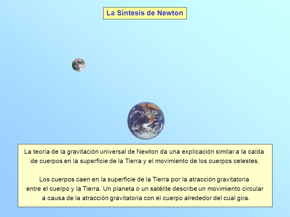 La Luna, dotada de una cierta velocidad, gira alrededor de la Tierra atraída por la misma.