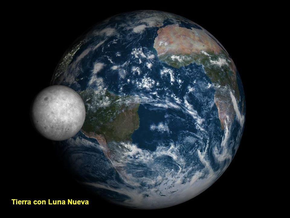 Tierra con Luna Creciente
