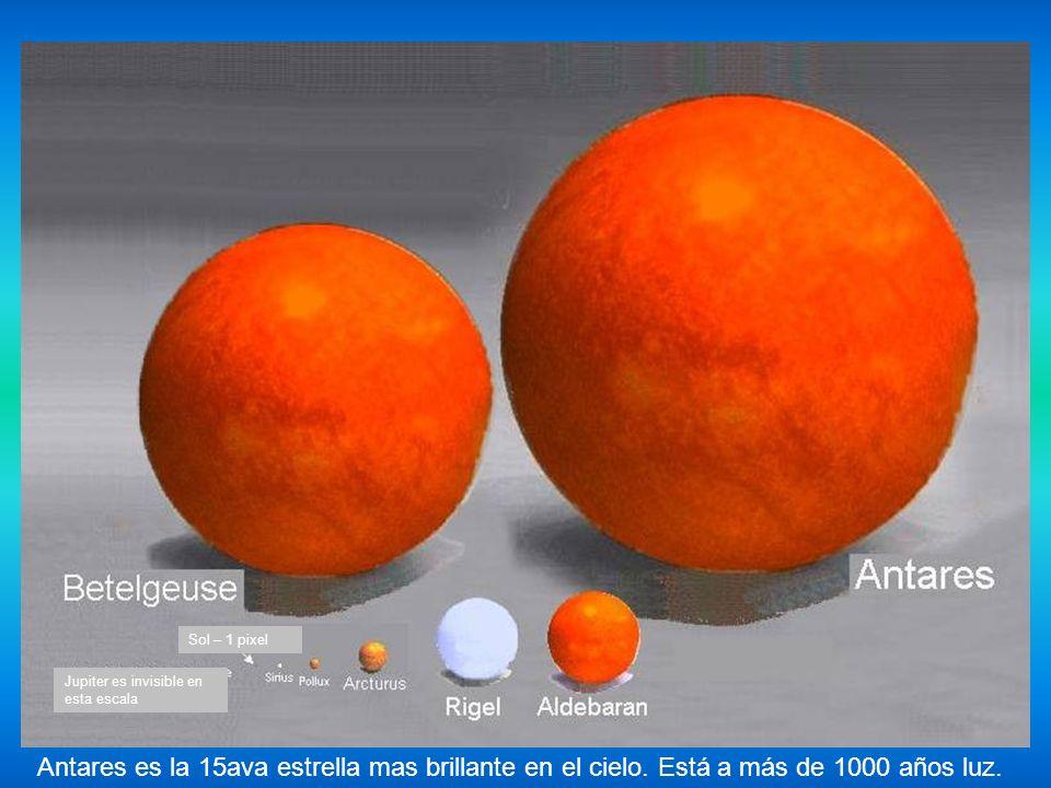 Sol Sirio Arturo Jupiter tiene 1 pixel La Tierra no es visible en esta escala