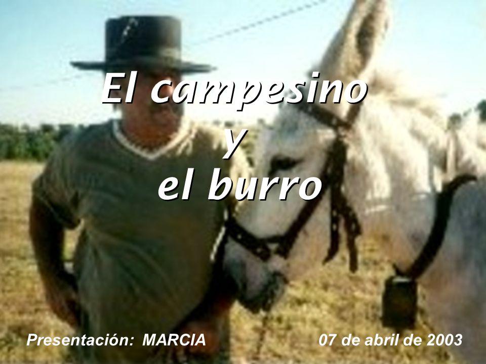 El campesino y el burro El campesino y el burro Presentación: MARCIA 07 de abril de 2003