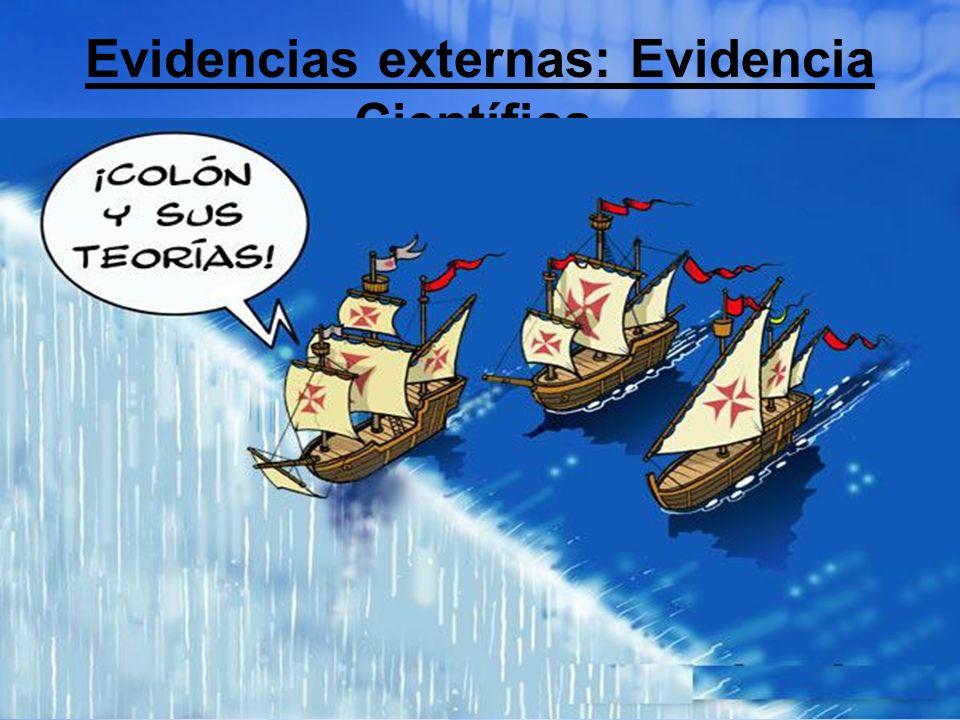 Evidencias externas: Evidencia Científica. La forma de la tierra Isaías 40:22 Él está sentado sobre el círculo de la tierra, cuyos moradores son como