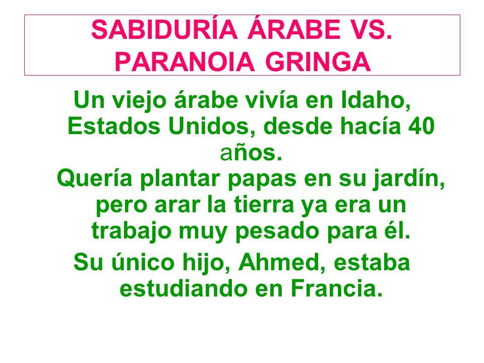 SABIDURÍA ÁRABE VS.