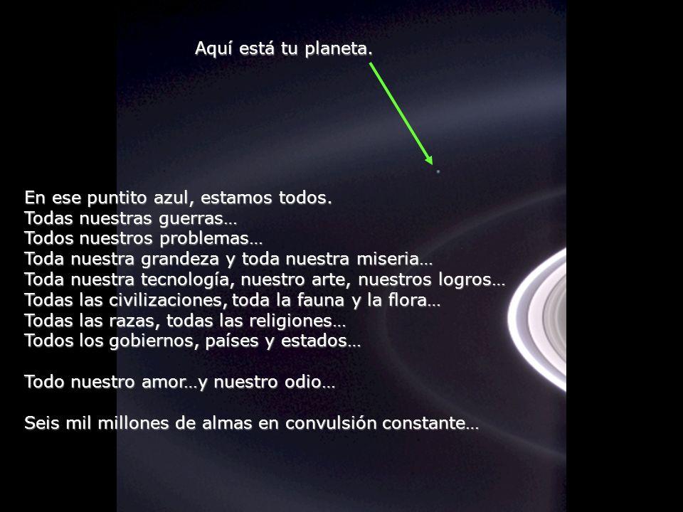 Héla aquí, pues: Contempla esta foto unos instantes. Fue tomada por Cassini-Juygens, Una nave espacial automática, en 2004, al llegar a los anillos de