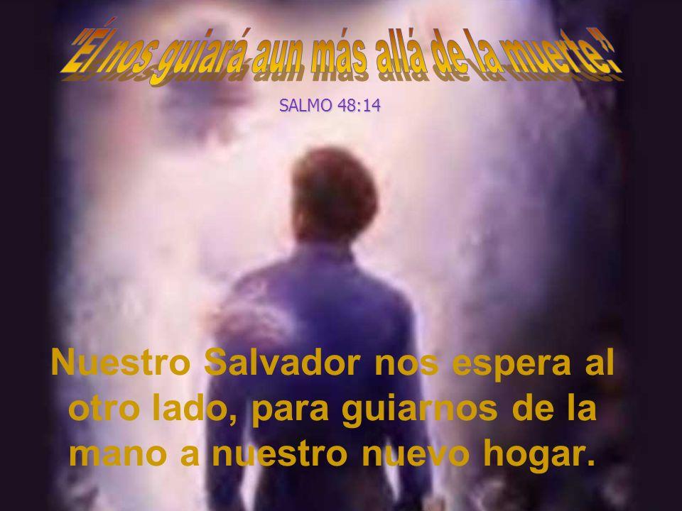 Nuestro Salvador nos espera al otro lado, para guiarnos de la mano a nuestro nuevo hogar. SALMO 48:14