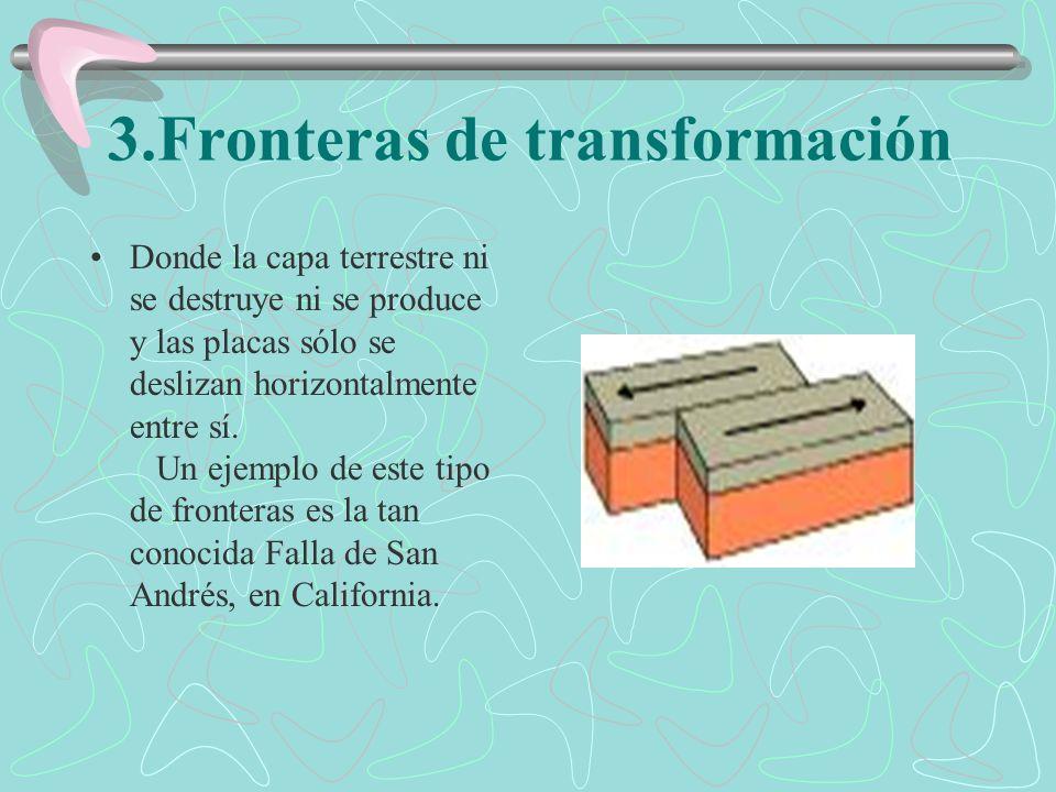 Ejemplos de formaciones por causa de las fronteras convergentes Las placas pueden converger en el continente y dar origen a : Cadenas montañosas como