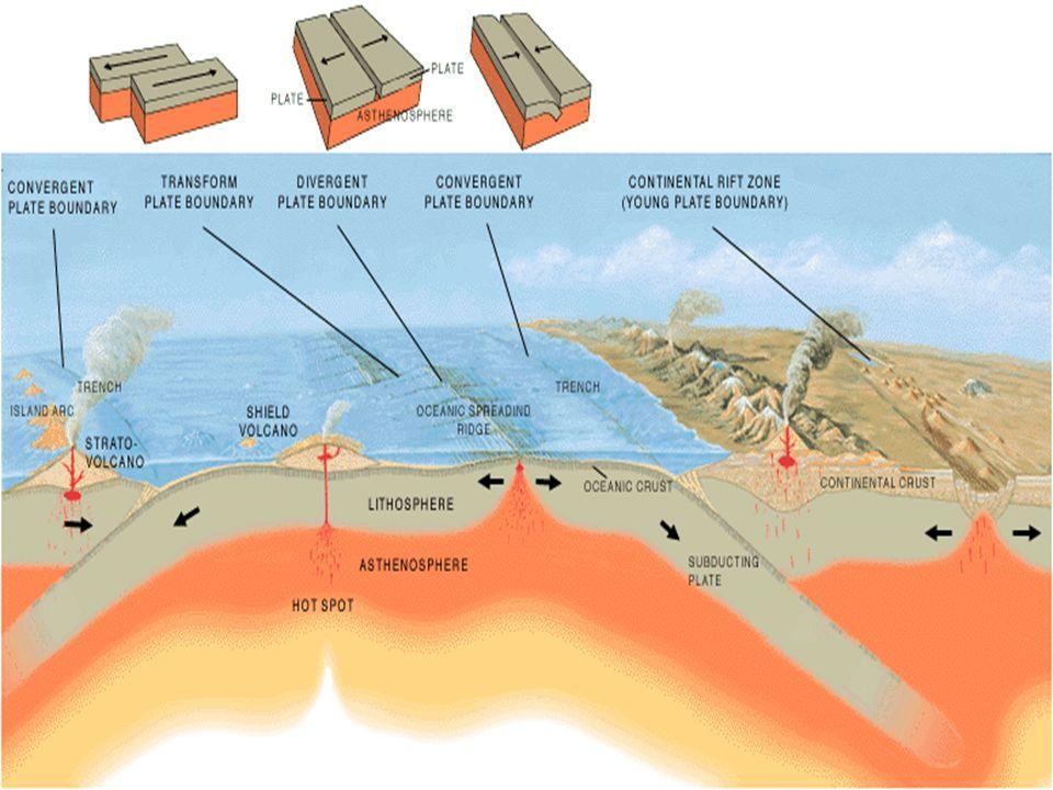 ¿Qué es una placa tectónica? Son pedazos de litosfera que por ser menos densos se deslizan sobre la astenosfera. En terminos geologicos, una placa es